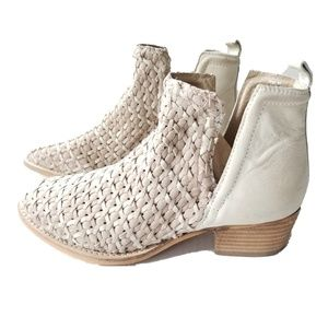 Free People Diba Struck Gold Ankle Boots leather